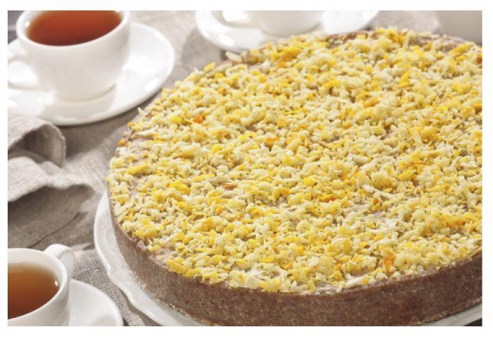 Торт с лимоном, корицей и имбирем